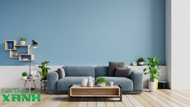 nội thất xanh green interior