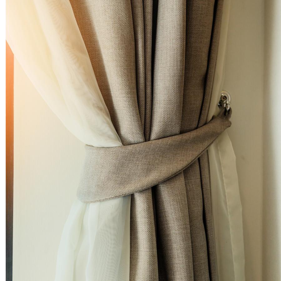 Chất liệu rèm vải cao cấp của nội thất xanh Thủ Đức
