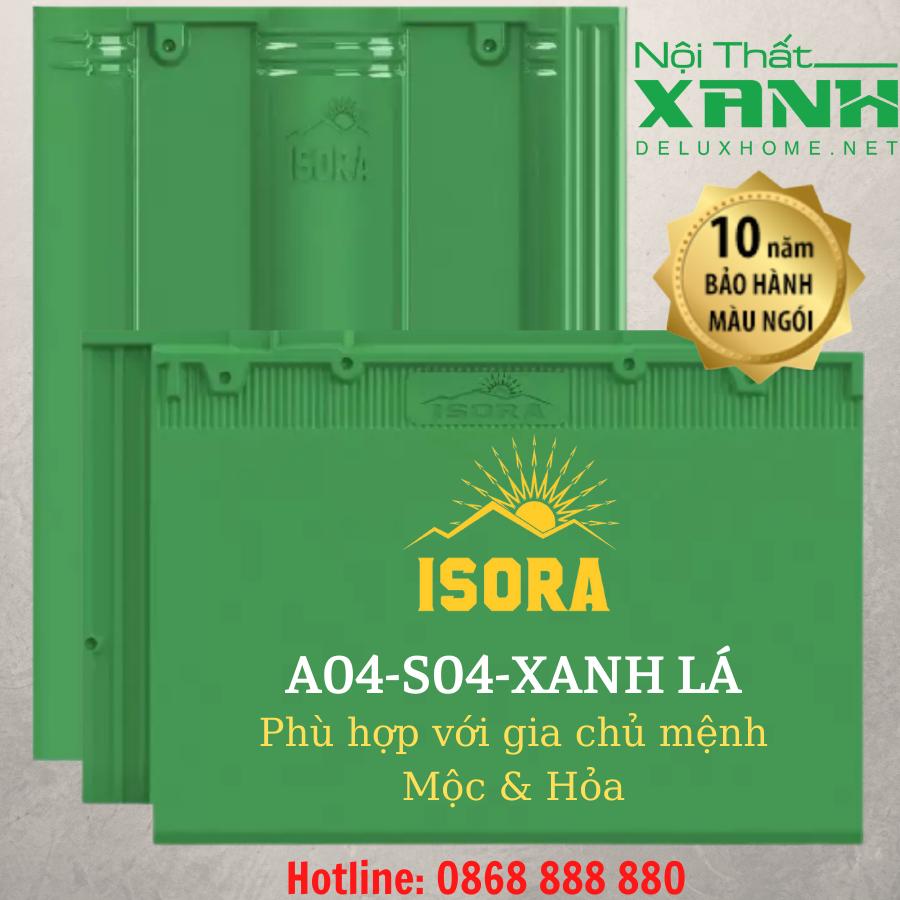 Ngói ISORA màu xanh lá cây
