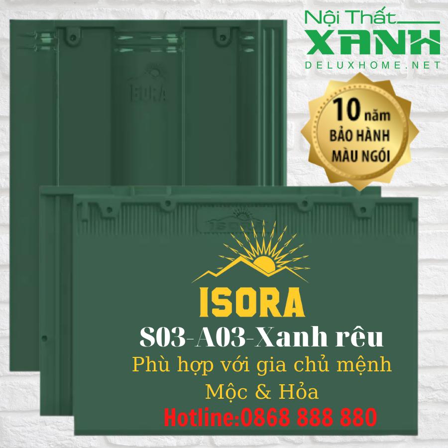 Ngói ISORA màu xanh rêu